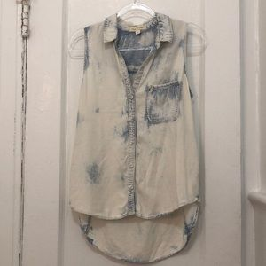 Cloth and Stone acid wash button up tank m